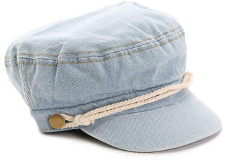David & Young Cord Canvas Military Hat - Women's