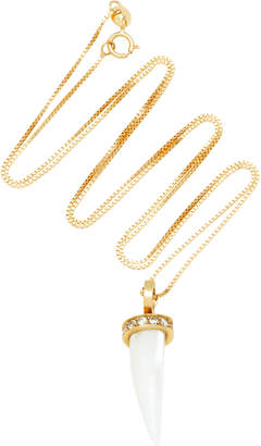 Hirsch Aron & Mursi 18K Gold Resin And Diamond Necklace