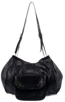 Bottega Veneta Intrecciato-Trimmed Crossbody Bag