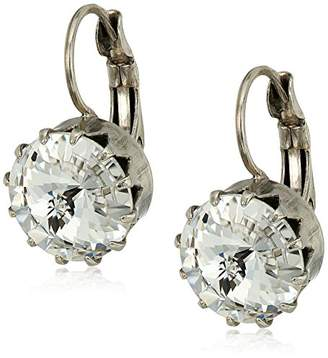 Sorrelli White Bridal Regal Rivoli Drop Earrings