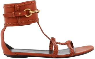 Gucci Brown Leather Sandals