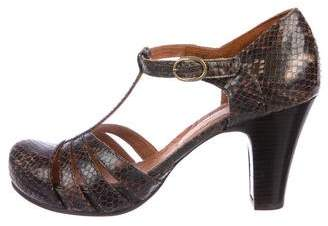 Chie Mihara Embossed Leather Sandals