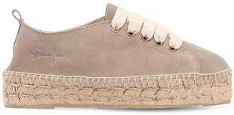Manebi 30mm Suede Lace-Up Espadrilles