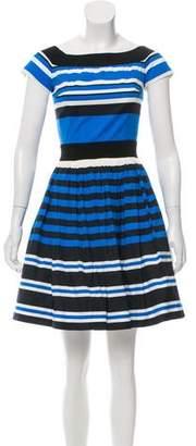 Prada Striped A-Line Dress