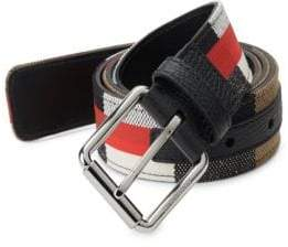 Burberry Textured Cotton-Blend Military Belt