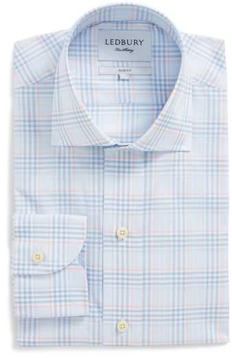 Ledbury Knollcrest Slim Fit Plaid Dress Shirt