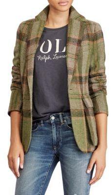 Polo Ralph Lauren Plaid Blazer $598 thestylecure.com