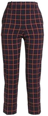 Theory Cropped Stretch-Wool Tapered Pants