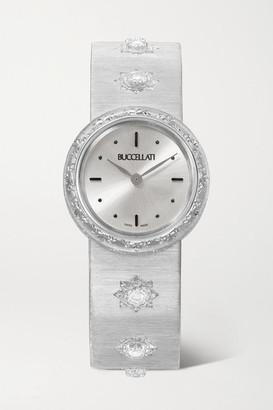 Buccellati Macri 24mm 18-karat White Gold And Diamond Watch - one size