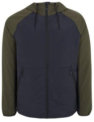 George Navy Lightweight Shower Resistant Hooded Jacket