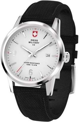Swiss Military by Charmex By Charmex Men's Officer Silver Tone Nylon Band Watch