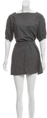 Saint Laurent Belted Virgin Wool Dress
