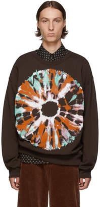 Dries Van Noten Brown Hearst Printed Sweatshirt