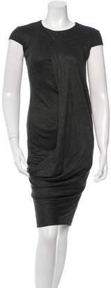 Alexander McQueen Cap Sleeve Midi Dress