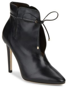 Tie-Up Leather Ankle Boots $995 thestylecure.com
