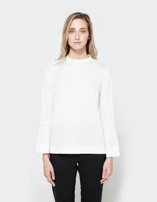 Just Female Barb Blouse in Optical White