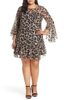 Eliza J Bell Sleeve Shift Dress