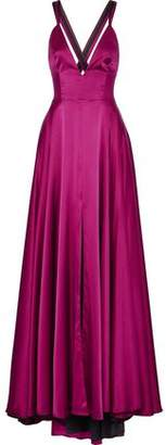 Milly Monroe Stretch-Silk Satin Gown