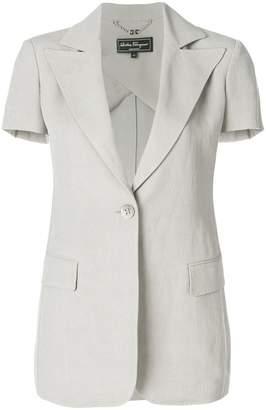 Salvatore Ferragamo shortsleeved button blazer