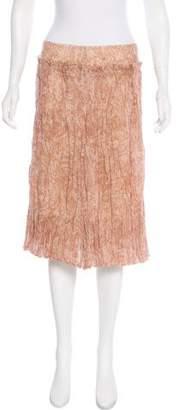 Max Mara Printed Wool Skirt