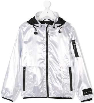 Diadora Junior metallic hooded jacket