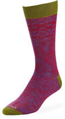 Etro Men's Paisley Cotton Socks