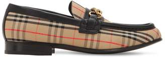 Burberry 10mm Moorley Check & Leather Loafers