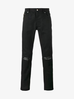 Saint Laurent ripped stud slim fit jeans