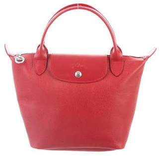 Longchamp Leather Mini Tote Bag