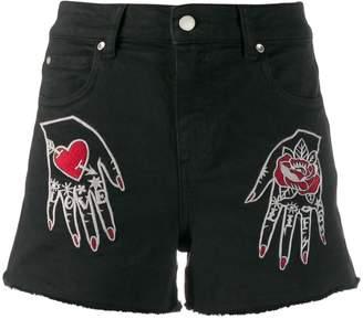 RED Valentino denim shorts
