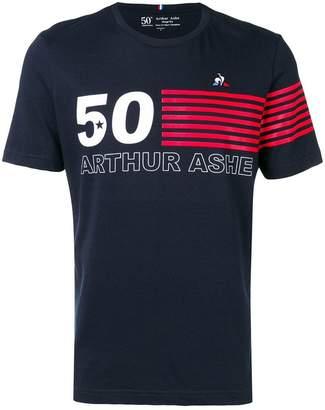 Le Coq Sportif striped detail T-shirt
