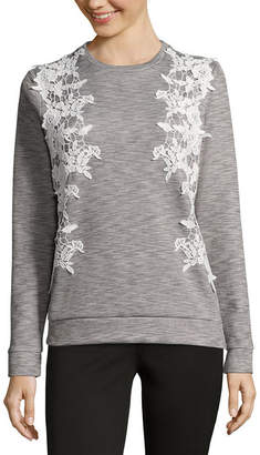 PROJECT RUNWAY Project Runway Lace Front Sweatshirt