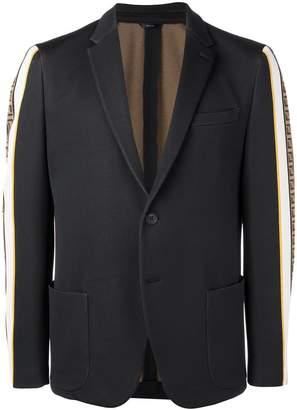 Fendi FF side stripe blazer