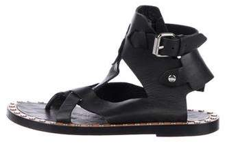 Isabel Marant Leather Cutout Sandals
