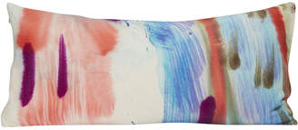 Fort Makers Hand-Painted Rectangle Pillow