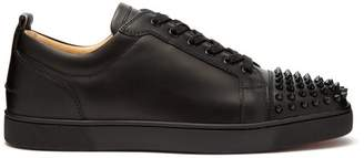 Christian Louboutin Louis Junior Leather Low Top Trainers - Mens - Black