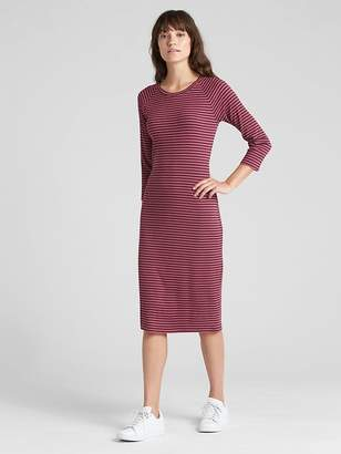 Gap Ribbed Raglan Midi T-Shirt Dress