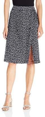 Paris Sunday Women's Midi Front Slit Skirt