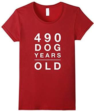 490 Dog Years Old Funny 70th Birthday Gift TShirt