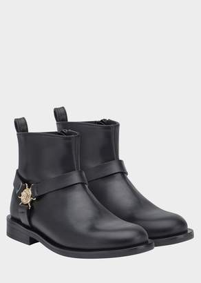 Versace Medusa Medallion Nappa Leather Boots
