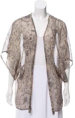 Winter Kate Printed Silk Cardigan