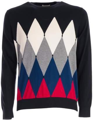 Ballantyne Argyle Knit Sweatshirt