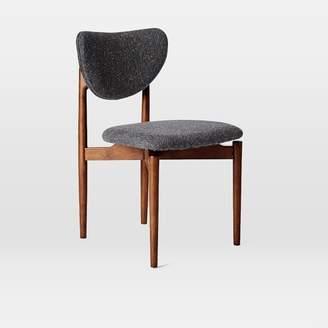west elm Dane Dining Chair - Asphalt (Tweed)