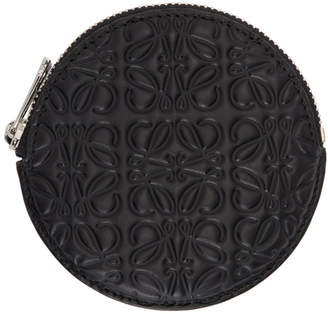 Loewe Black Anagram Cookie Zip Coin Pouch