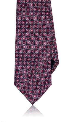 Piattelli MEN'S MEDALLION SILK FAILLE NECKTIE
