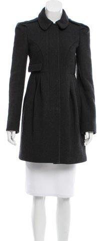 Miu MiuMiu Miu Virgin Wool Short Coat