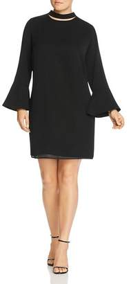 Glamorous CURVY Mock Neck Cutout Dress