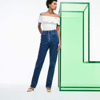 Lacoste Women's Fashion Show High-Waisted Denim Jeans