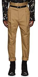 Haider Ackermann Men's Pleated High-Rise Slim Trousers - Camel