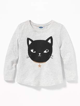 9d72a0b2f30379 Old Navy Graphic Scoop-Neck Tee for Toddler Girls